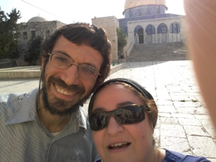 My wife and I on the Temple Mount, 2017-07-27